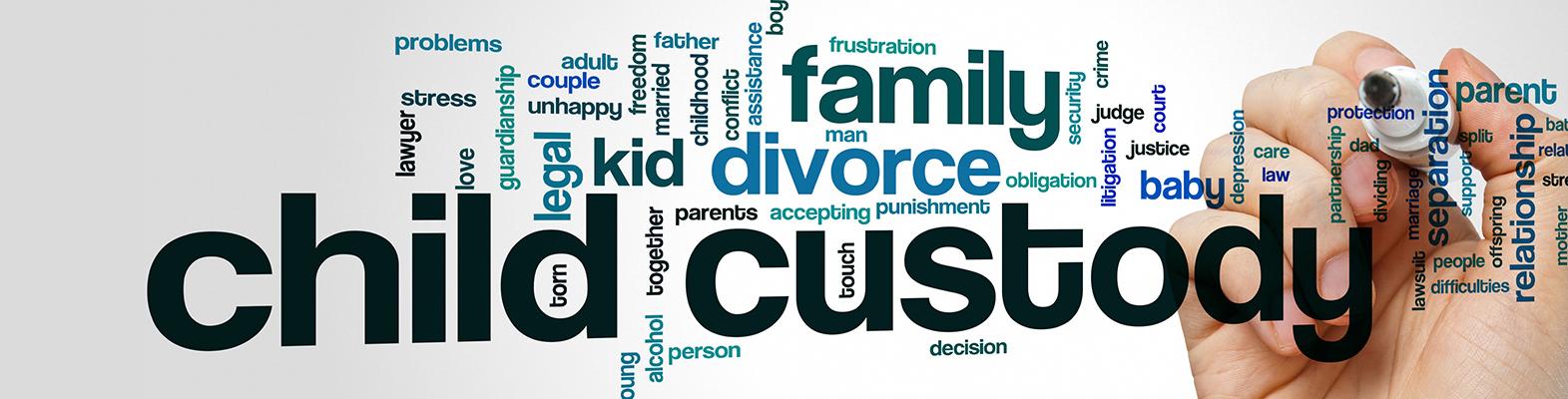 child custody concept banner
