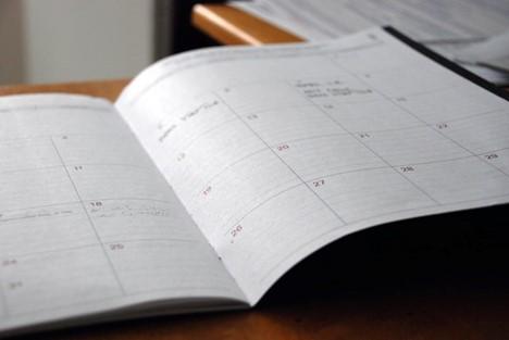image of book calendar