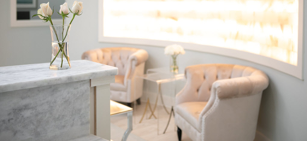 waiting area with neutral color scheme