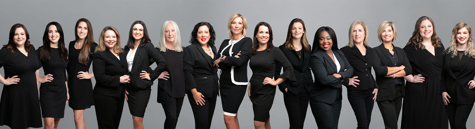 group picture of the Florida Women's Law group Team